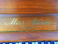 Max Adam of Berlin Upright Piano and piano stool for sale - COLLECT ONLY