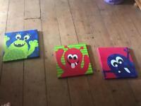 Kids monster canvas