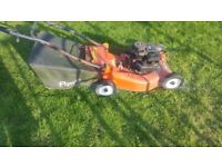 Petrol lawnmower working order