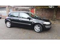 2005(05)RENAULT MEGANE 1.9 DCi DYNAMIQUE 120BHP BLACK,LOW MILES,6 SPEED,CLEAN CAR