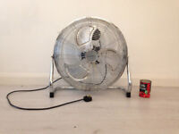 "Pro Elec 20"" High Velocity Fan Complete Metal Structure Chrome Finish - BARGAIN!"