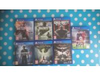 PS4 games (individually priced)