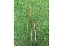2 fly rods incl. Hardy Gold Medal bamboo Palakona Fly rod &