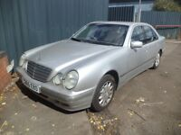 2000 Mercedes Benz E CLASS 2.6 Petrol 4 door Saloon in Silver Colour. Mileage is 67K....