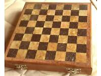 Chess set (box with onyx pieces)