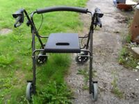 Folding Rollator with Seat