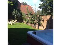 Lovely relaxing break , hot tub , private enclosed garden , close to the east coast .