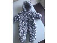 New Mothercare Stunning Animal Print Snowsuit Up to 1 Month