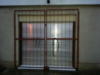 Pair of Large Steel Security Gates Garage Shed Driveway