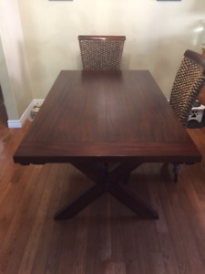 Extension Java Trestle Dining Room table