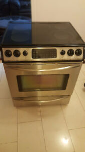 Frigidaire stainless steel slide in convection stove for sale