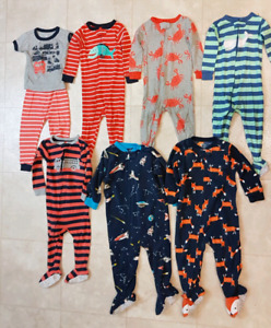 Boys size 18 month Carters sleepers lot