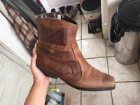 Mens brown leather boots size 11