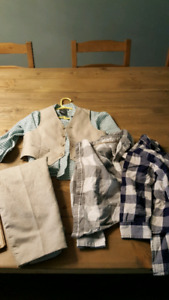 2t boys suit with extra dress shirts