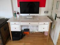 Willow desk (MADE) oak and white