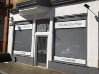 Shop to let at 14-16 Clincart Road Mount Florida Glasgow presently a Hairdressers' Salon