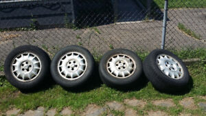 4 tires and rims for sale , Buick caps