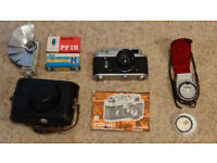 Zorki 4k 35mm Rangefinder Camera and accessories
