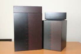 Set of 2 wooden decorative storage boxes