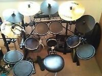 WANTED Alesis DM5 Pro Electronic Drum Kit w/Surge Cymbals w/ Mapex 500 Series Double Drum Pedal