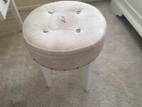 White vintage dressing table with stool