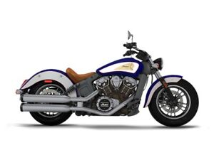 2017 Indian Scout ABS Brilliant Blue Over White and Red
