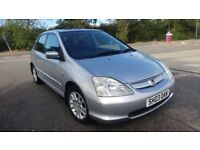 HONDA CIVIC SE EXECUTIVE 1.6// 5 DOORS HATCHBACK// FULL STAMPED SERVICE HISTORY//2KEYS/2 OWNERS £750