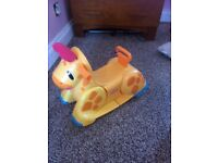 Baby/toddler giraffe rocker