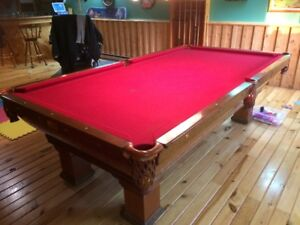 Rare antique pool table refurbished