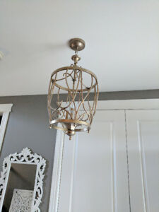 Silver/Gold Light Fixture - Like New