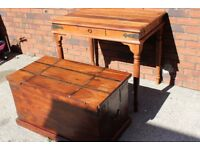 Old Fashioned Wood Storage Trunk Wooden Treasure Hope Chest