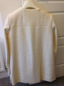 Zara cream white coat size S
