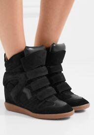 Isabel Marant black wedge sneakers