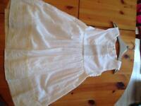 White designer girls dress age 3-4