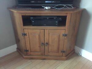 Corner tv stand solid wood