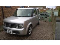 spairs or repair 2004 nissan cube auto 5 door silver drive a way need windscreen retro classic