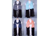 Modern Latest Style Cotton Hijab Scarf Long Maxi Trendy Cape Sarong Wrap 190x90
