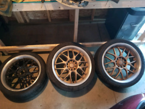 """18"""" multi bolt pattern rims and tires."""