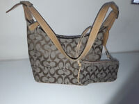 """""""Coach-style"""" bag with matching purse"""