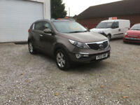 2012 KIA SPORTAGE 1.7 CRDi 2 TURBO DIESEL 2WD ESTATE,ONLY 67000 MILES WITH FULL