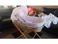girls mosses basket never been used