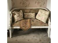 Swan sprung seat sofa ,love seat bedroom living room