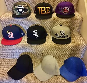 New Fitted/ Snapback Hats;  MLB, NBA, NFL, boxing, Mayweather