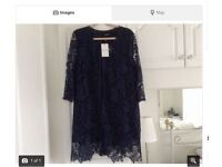FURTHER REDUCED- Longline Navy Lace Jacket £20