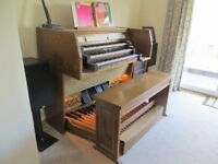 Johannus Opus 1400 Classical Organ with bench. 3 Manuals, 32 note pedalboard, some electrical issues