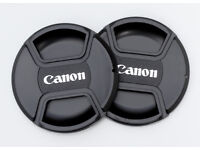 JOB LOTS OF 77MM CENTRE PINCH LENS CAPS FOR CANON LENSES