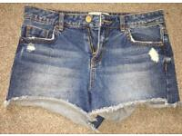 New Look UK Size 6 Denim Hotpants