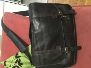 Mancini RFID leather laptop bag