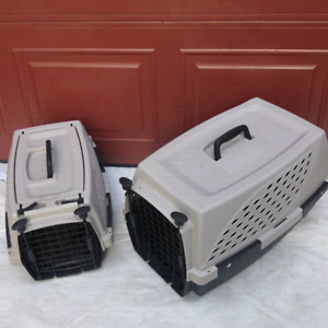 2 travel portable pets dogs cats crates cages