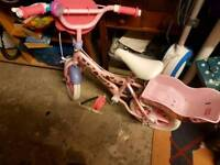 Angelina ballerina kids bike and helmet